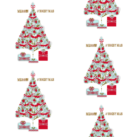 Merry Christmas fabric by karenharveycox on Spoonflower - custom fabric