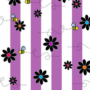 Buzz Bee Stripes Purple