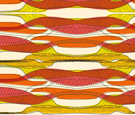 Retro Curves fabric by samossie on Spoonflower - custom fabric