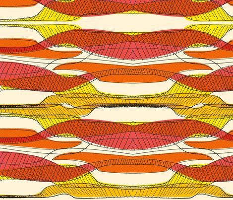 Retro Curves fabric by samossie on Spoonflower - custom fabric