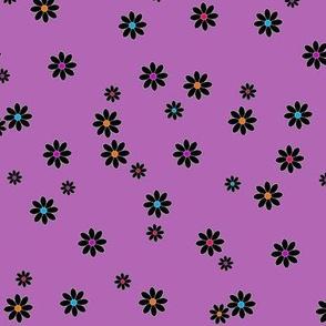 Buzz Bee Purple Flowers