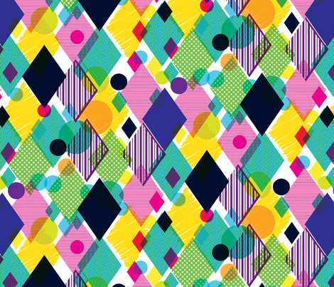 Geo Brights fabric by samossie on Spoonflower - custom fabric