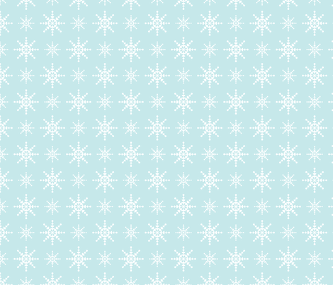 "Snowflakes ""Ice"" 2012 fabric by laurenbritchford-design on Spoonflower - custom fabric"