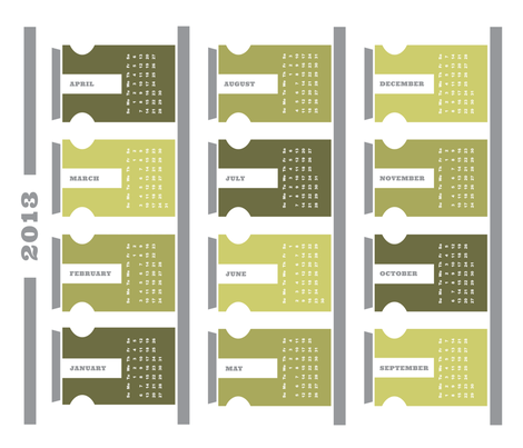 2013 Tea Towel Calendar - Spice Rack fabric by spiffing_design on Spoonflower - custom fabric