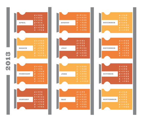 2013 Tea Towel Calendar - Spice Rack