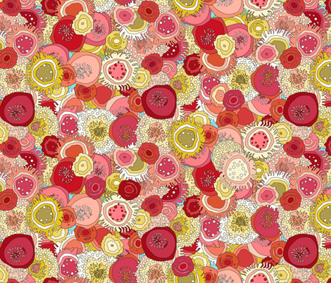 coral garden fabric by scrummy on Spoonflower - custom fabric