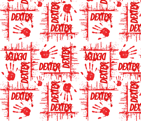 dexter  white fabric by sydama on Spoonflower - custom fabric