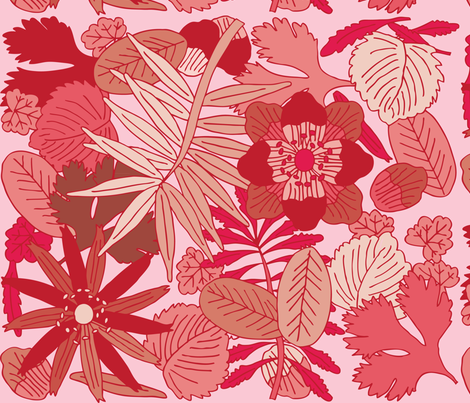 Botanic - Rose fabric by owlandchickadee on Spoonflower - custom fabric