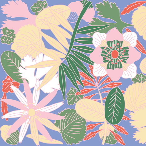 Botanic - Soft fabric by owlandchickadee on Spoonflower - custom fabric