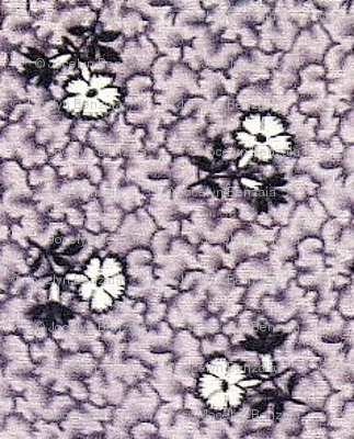 Purple, Black & White Flowers faded