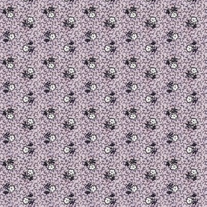 Purple, Black & White Flowers faded