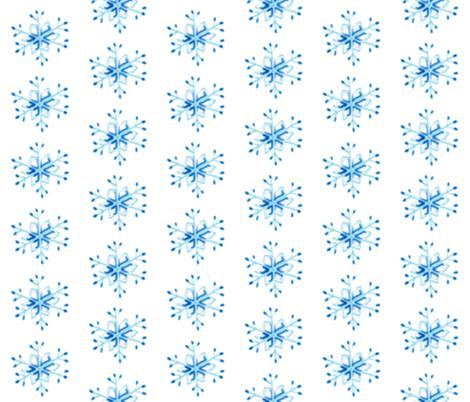 Snowflakes fabric by inkwolf on Spoonflower - custom fabric