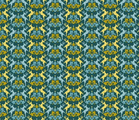 reindeer romp fabric by brandbird on Spoonflower - custom fabric