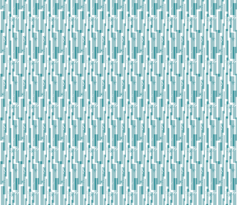 retro snow fabric by brandbird on Spoonflower - custom fabric