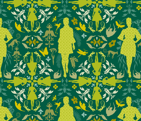 natural beauty  fabric by brandbird on Spoonflower - custom fabric
