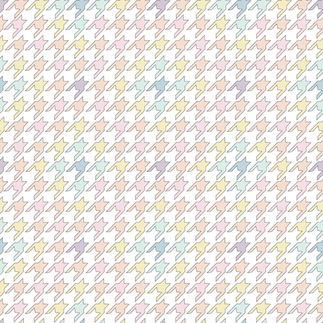 Tiny Pastel Houndstooth fabric by empireruhl on Spoonflower - custom fabric