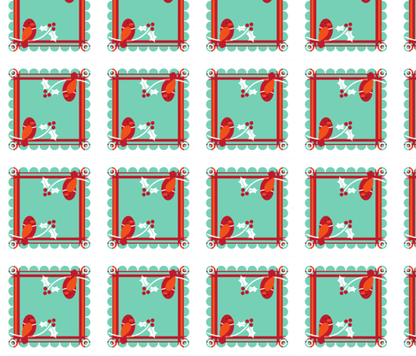 holiday_cocktail_napkin1_aqua fabric by zinniagirl on Spoonflower - custom fabric