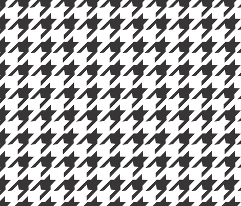 Big Houndstooth fabric by empireruhl on Spoonflower - custom fabric