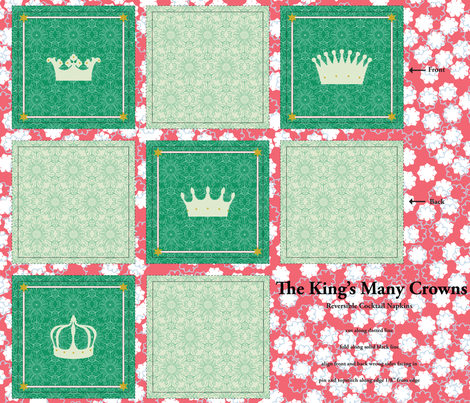 The King's Many Crowns fabric by tullia on Spoonflower - custom fabric