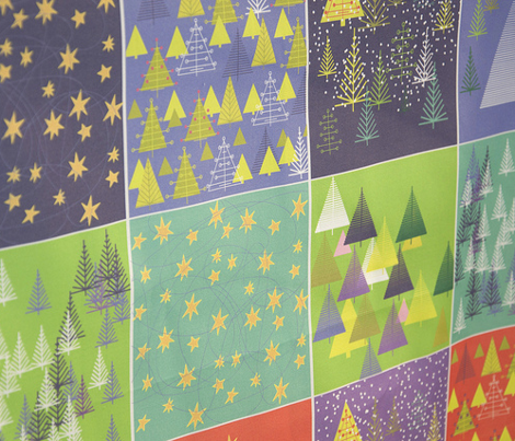 Holiday Trees/Starry Nights Cocktail Napkins