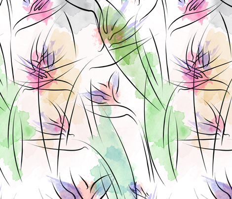 Birds of Paradise fabric by angel_mio on Spoonflower - custom fabric