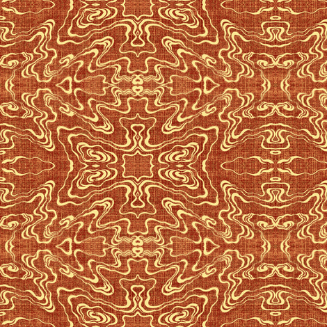Ripple - terra cotta fabric by materialsgirl on Spoonflower - custom fabric
