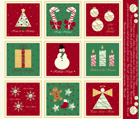 Home for the Holidays fabric by arttreedesigns on Spoonflower - custom fabric