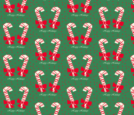 Candy Canes fabric by arttreedesigns on Spoonflower - custom fabric