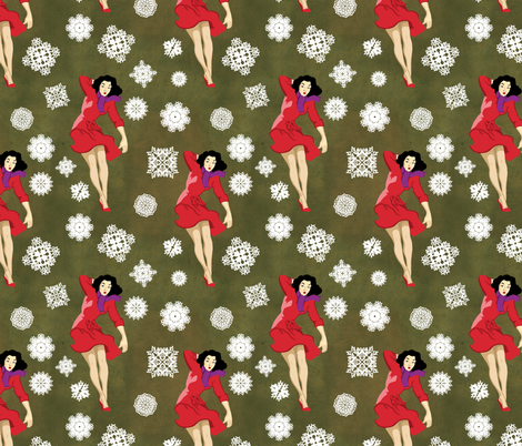 pin_up_winter fabric by lusykoror on Spoonflower - custom fabric