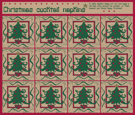 Christmas Napkins fabric by bippidiiboppidii on Spoonflower - custom fabric