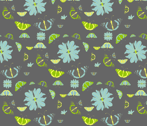 *Fly like butterfly* fabric by akwaflorell on Spoonflower - custom fabric