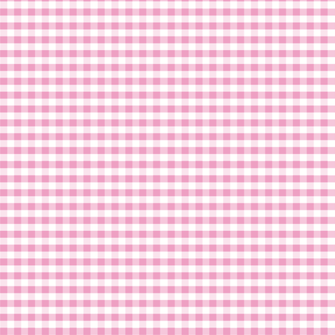 Pink gingham fabric by little_fish on Spoonflower - custom fabric