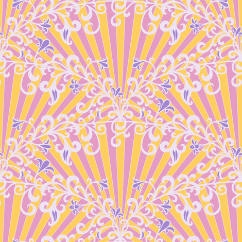 Morning Sunrays fabric by siya on Spoonflower - custom fabric