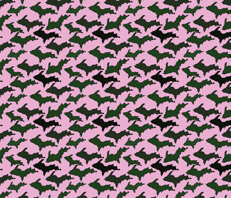 Pink U.P. Camo fabric by hmooreart on Spoonflower - custom fabric