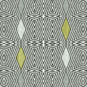 Op Art Ikat - Avocado
