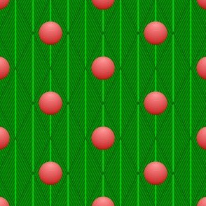 fir fronds + baubles argyle