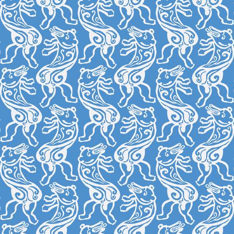 Dancing Polar Bear fabric by nefernika on Spoonflower - custom fabric