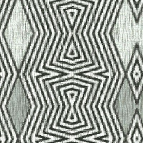 Op Art Ikat - Argyle
