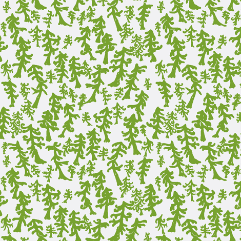 Drunken Forest fabric by nefernika on Spoonflower - custom fabric