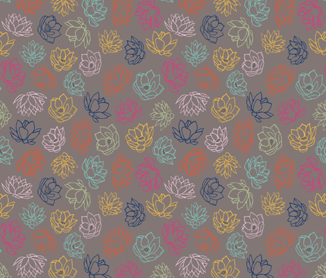 Lotus Colors fabric by jara_by_jacki on Spoonflower - custom fabric