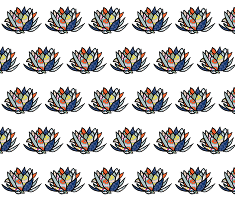 LLONe Lotus  fabric by jara_by_jacki on Spoonflower - custom fabric