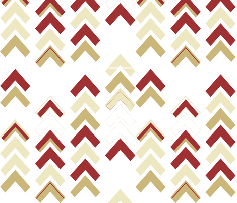 Xmas Chevron Stripe fabric by staceyann85 on Spoonflower - custom fabric