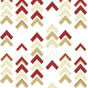 Xmas Chevron Stripe