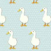 Duck Cool on white dots