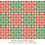 Christmas Garlands Fabric Napkins