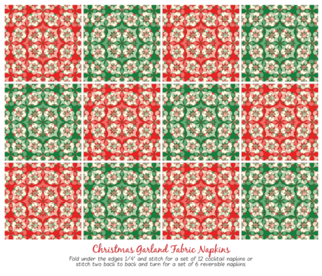 Christmas Garlands Fabric Napkins fabric by strive on Spoonflower - custom fabric