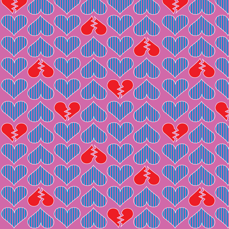 Broken Hearts - Sherbet fabric by mag-o on Spoonflower - custom fabric