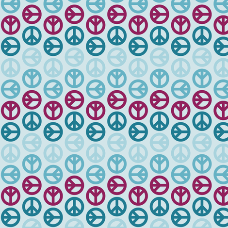 Peace Wave - Mulberry fabric by mag-o on Spoonflower - custom fabric