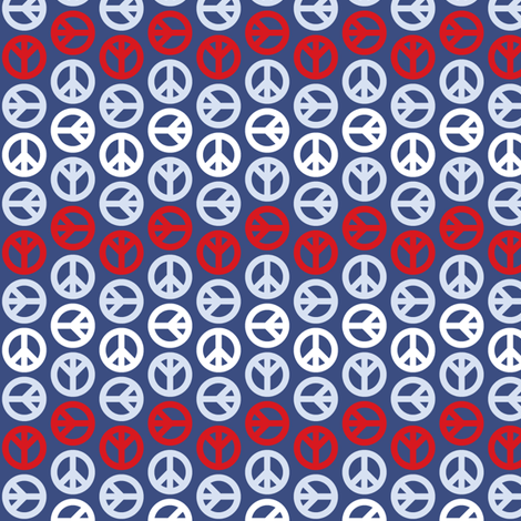Peace Wave - Patriotic fabric by mag-o on Spoonflower - custom fabric