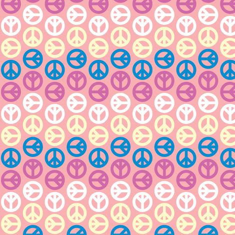 Peace Wave - Sherbet fabric by mag-o on Spoonflower - custom fabric